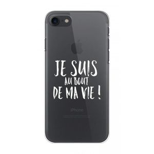 COQUE - BUMPER Coque Crystal iPhone 7 Collection Wording Au bout