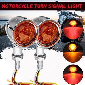 DE-FR Relais de clignotant /à DEL /à vitesse universelle /à 2 broches Clignotant pour moto Indicateur dinstallation facile Orange couleur: Orange