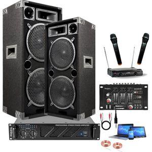 PACK SONO KARAOKE + 2 MICROS SANS FIL + MIXAGE + AMPLI SONO
