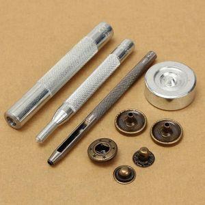 30pcs bouton pression métal Boutons À Coudre 15//17mm outil à fixer pour coutume