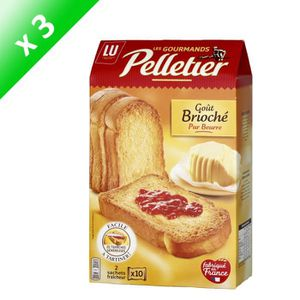 BISCUITS SECS Lot de 3 PELLETIER Les gourmands Goût brioché - 2