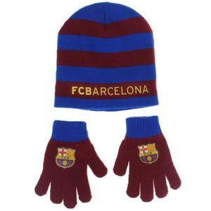 BONNET - CAGOULE Barça  bonnet gant enfant FC Barcelone Messi Suare