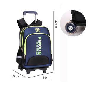 CARTABLE Cartable à Roulettes Double roue Trolley Bag Sac à