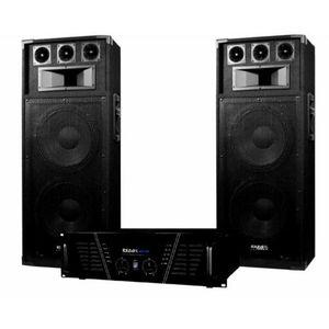 PACK SONO Pack Sono DJ ampli 2 x 800 W + enceintes 2 x 600 W