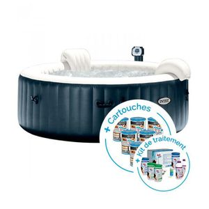 SPA COMPLET - KIT SPA Spa gonflable Intex PureSpa Plus Bulles 6 places +