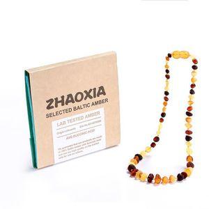 COLLIER AMBRE collier d ambre bebe(Multicolor Raw) - 3 Taille(28