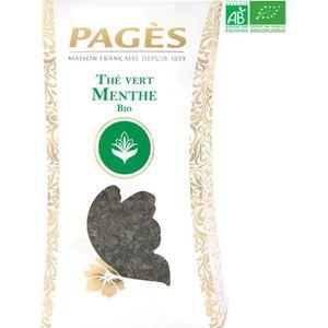 THÉ PAGES Thé Vert Menthe - Vrac - Bio