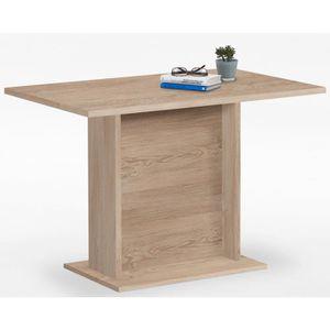 TABLE À MANGER COMPLÈTE Table de salle à manger coloris chêne - Dim : 110