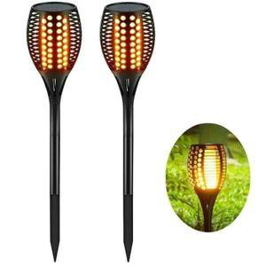 BALISE - BORNE SOLAIRE  TEMPSA Lot de 2pcs Lampes Solaires 33 LED Balises