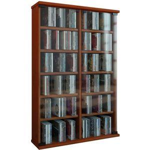 MEUBLE RANGE CD CD-Cabinet ROMA CHERRY