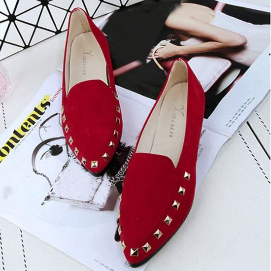 Appartements Rivet Ladies Comfy Chaussures femme Soft Slip-On Chaussures bateau Casual  rouge Rouge Rouge - Achat / Vente slip-on