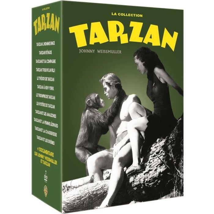 DVD FILM DVD Coffret La Collection Tarzan - Johnny Weissmul
