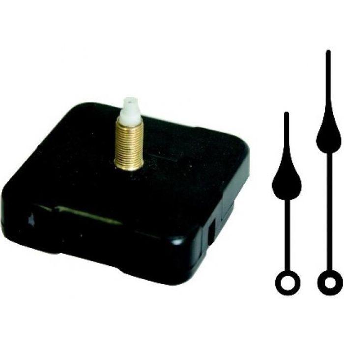 Mécanisme 17 mm et Aiguilles pour horloge : Gouttes - Artémio Noir