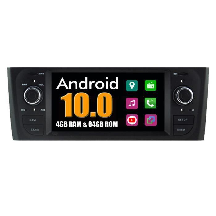 RoverOne Autoradio Bluetooth GPS Navigation pour Fiat Punto Linea 2007-2011 Android Stéréo MirrorLink WiFi