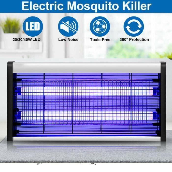 Tue Mouche Eléctrique, Lampe Anti-Moustique - Lampe UV, Tueur d'Insectes Electrique 20W, Anti-Moustique Inté