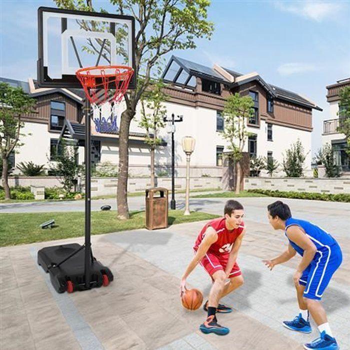 panier de basket sur pied portable hauteur réglable 1.6cm-2.1cm,pour enfant et adolescents