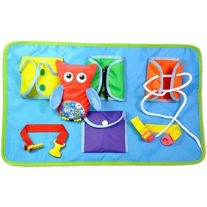 Jouets D'éveil - Jeu Peluche Montessori Enseignement Habiller Jouets éducatifs pour Enfant bebe