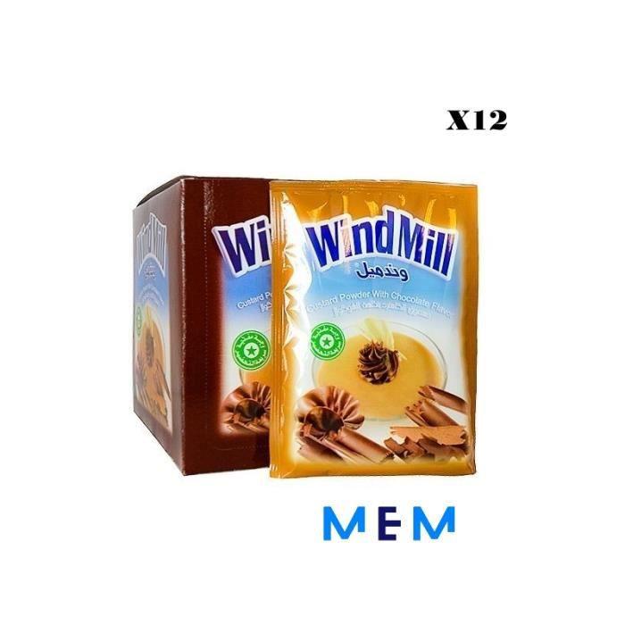 Poudre de pudding à la crème saveur chocolat WINDMILL (x12 sachets)