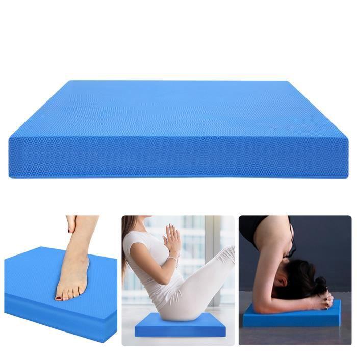 Soft Yoga Balance Cushion Pad Training Taille rembourrée Abdomen Exercise Fitness Mat Equipment (L bleu)-FAS