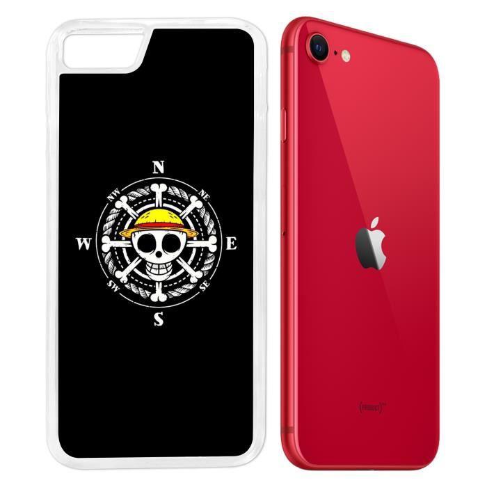 Coque iPhone SE 2020 - One Piece logo boussole. Accessoire telephone