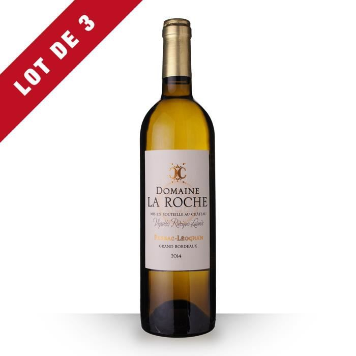 3X Domaine la Roche 2014 Blanc 75cl AOC Pessac-Léognan - Vin Blanc