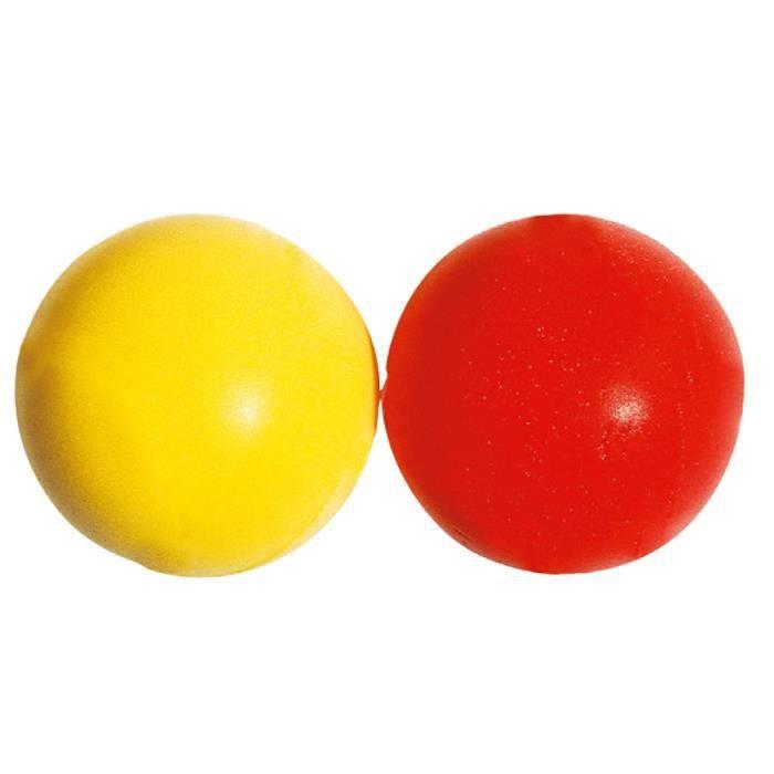 Balle de tennis en mousse - jaune/rouge