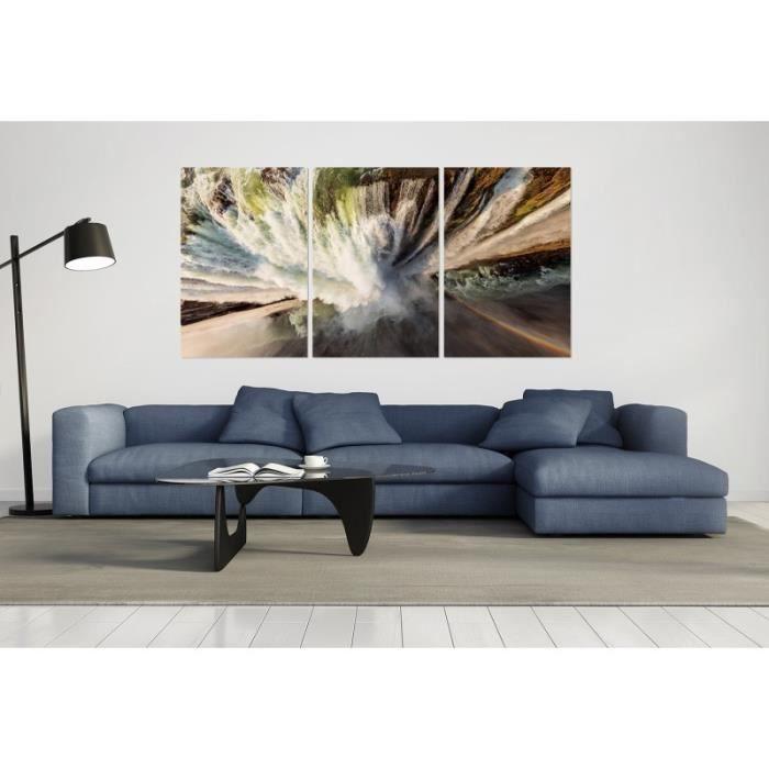 Cadre photo prisme bleu carré Léviathans avec ou sans en verre acrylique