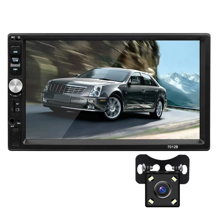 Autoradio Bluetooth mains libres voiture MP5 lecteur Autoradio 2 Din Mirrorlink Support d'image inverse - Type With 4Led camera