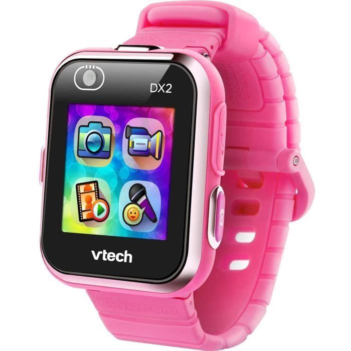 VTech - Kidizoom Smartwatch Connect DX2 – Framboise – Montre Connectée Pour Enfants - Version FR