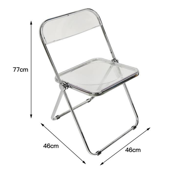 YGONGMYL Chaise de Salle à manger / Chaise de bureau / Chaise Loisirs / Maquillage Tabouret / Pliante / Acrylique Mode Transparent