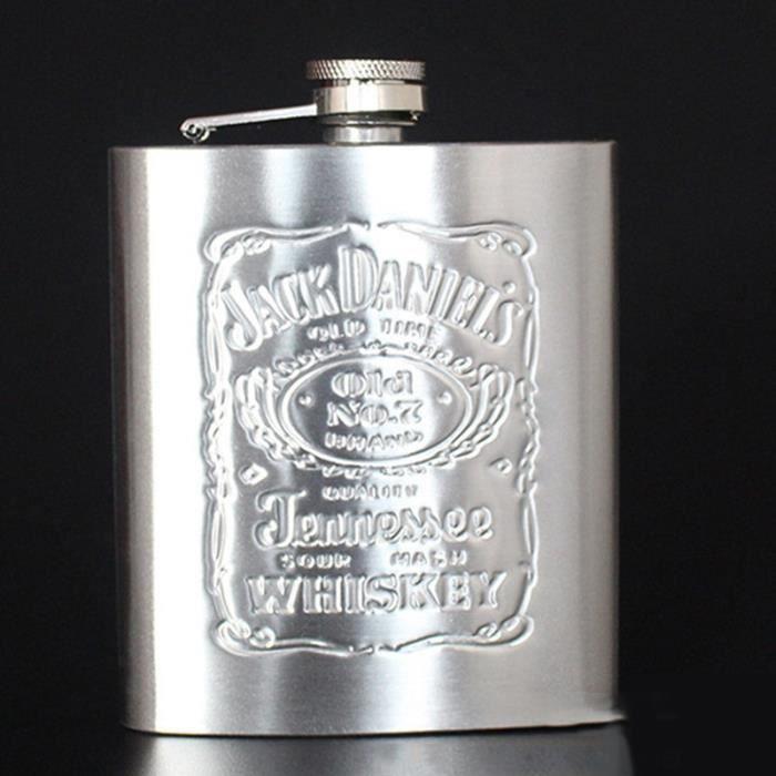 Flasques,Flacon militaire de boisson de bouteille de Vodka de Wisky de tasse de vin russe de fiole de hanche de 7oz - Type 1 7oz