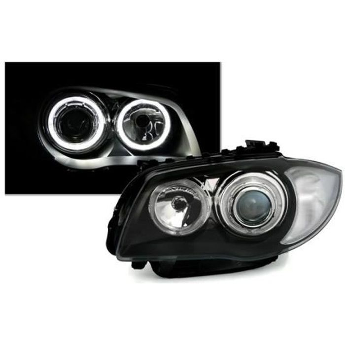 2 FEUX PHARE AVANT ANGEL EYES LED / AMPOULE BMW SERIE 1 E87 E88 ET E81 E82