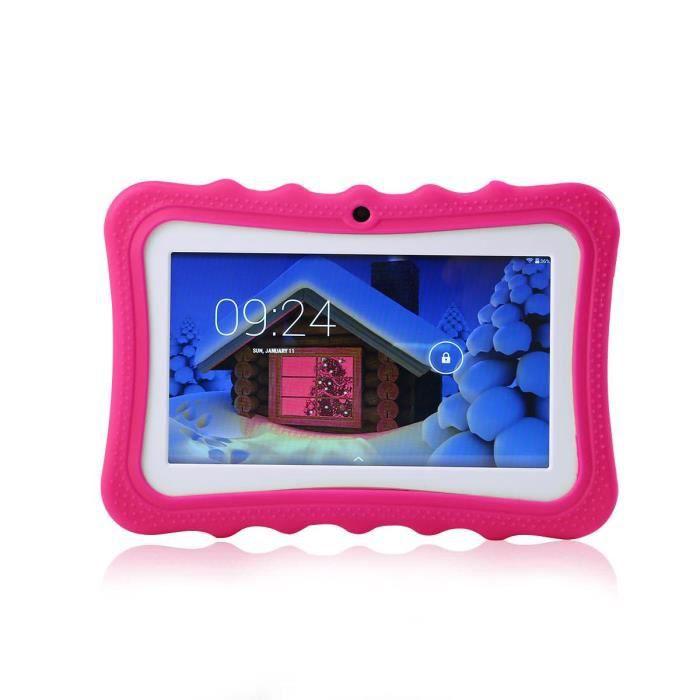 Leegoal Tablette tactile Enfant 7'' Hd Rom 8Go Quad Core Android 4.4 Rose Rouge