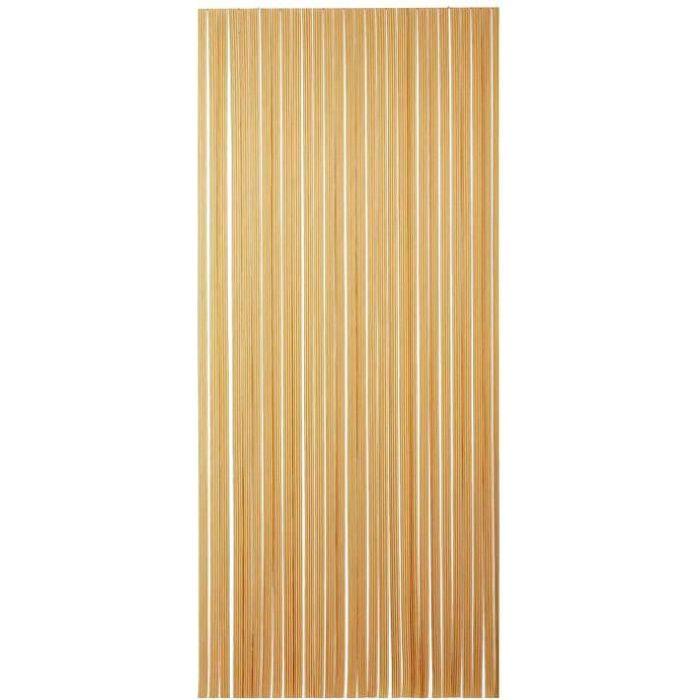 MOREL - Rideau portière PVC Tahiti brun et beige 100x220 cm