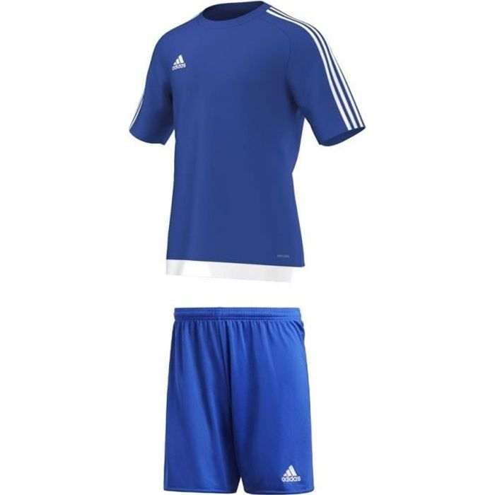 Ensemble Short + Tee shirt Adidas Estro Bleu Royal