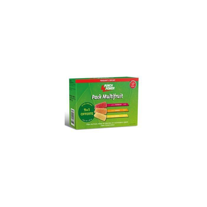 PUNCH POWER Pack Multifruit - 10 Pâtes de fruits