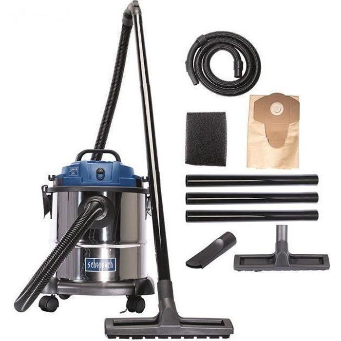 Aspirateur eau et poussière SCHEPPACH 1200W - 20L - NTS20