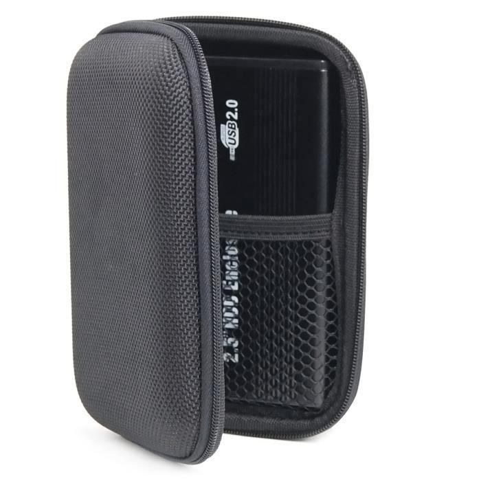 TRIXES Étui de transport protecteur pour disque dur externe USB 2,5- d'ordinateur portable / PC