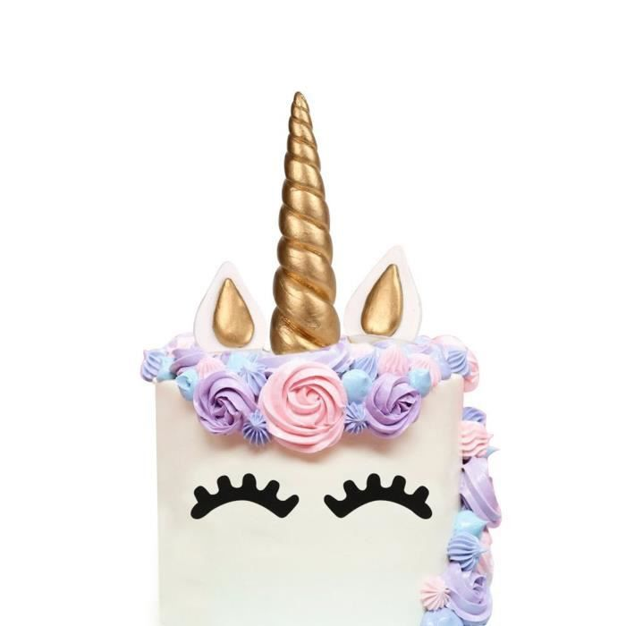 gateau licorne decoration licorne gateau cake topper. Black Bedroom Furniture Sets. Home Design Ideas