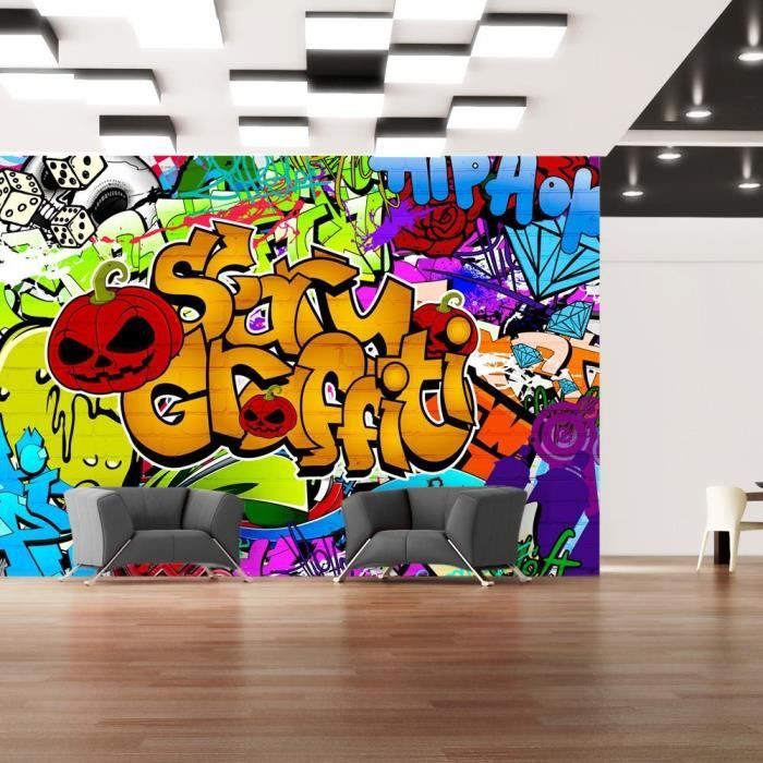 papier peint intiss graffiti 100x70 cm 2 l s achat vente affiche papier peint intiss. Black Bedroom Furniture Sets. Home Design Ideas