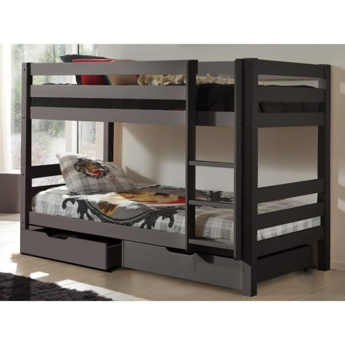 lits superpos s en bois massif avec tiroirs de rangement. Black Bedroom Furniture Sets. Home Design Ideas