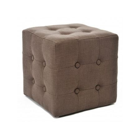 pouf capitonn chesterfield lin marron achat vente pouf poire cdiscount. Black Bedroom Furniture Sets. Home Design Ideas