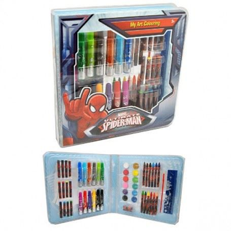 Spiderman malette de coloriage achat vente kit de - Jeux de spiderman coloriage ...