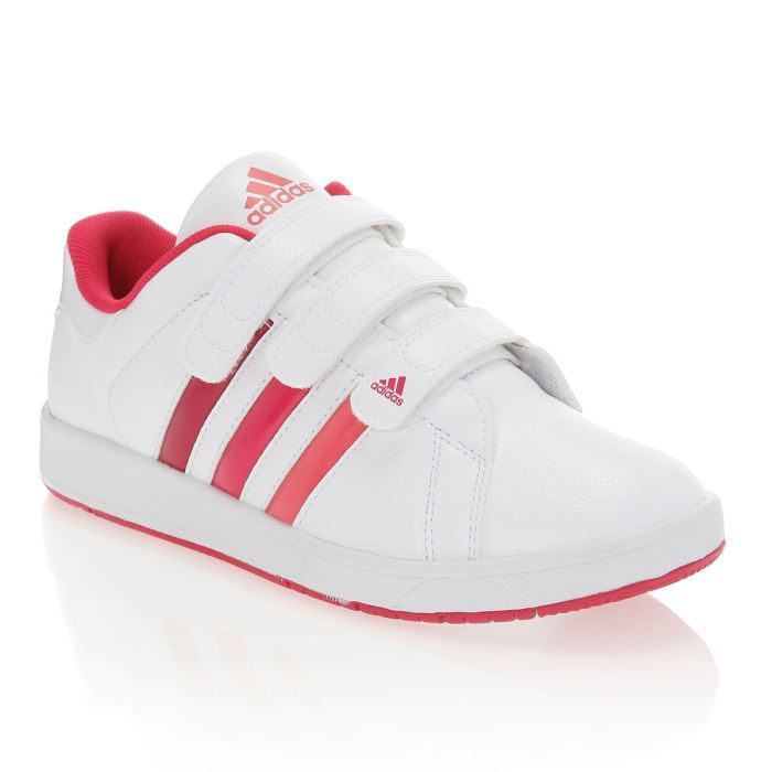 adidas baskets bts class 3 enfant blanc et rose achat vente basket cdiscount. Black Bedroom Furniture Sets. Home Design Ideas