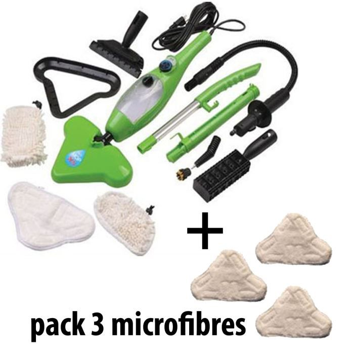 h2o mop x5 set 3 microfibres achat vente nettoyeur vapeur cdiscount. Black Bedroom Furniture Sets. Home Design Ideas
