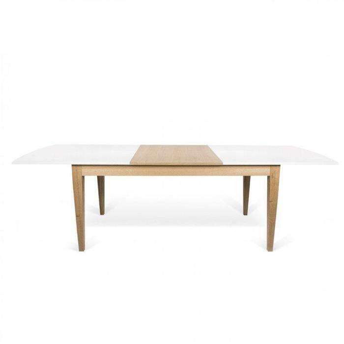 TABLE À MANGER SEULE Table repas extensible scandinave BERTHA 90*190 cm