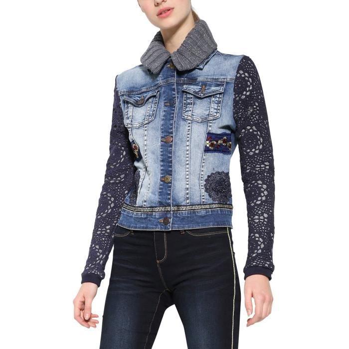 DESIGUAL Chaq_exotic crochet Jeans Veste