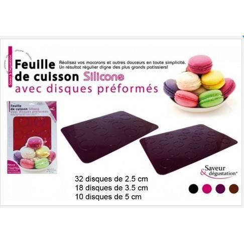 plaque de cuisson silicone special macaron achat vente set accessoire cuisine plaque de. Black Bedroom Furniture Sets. Home Design Ideas