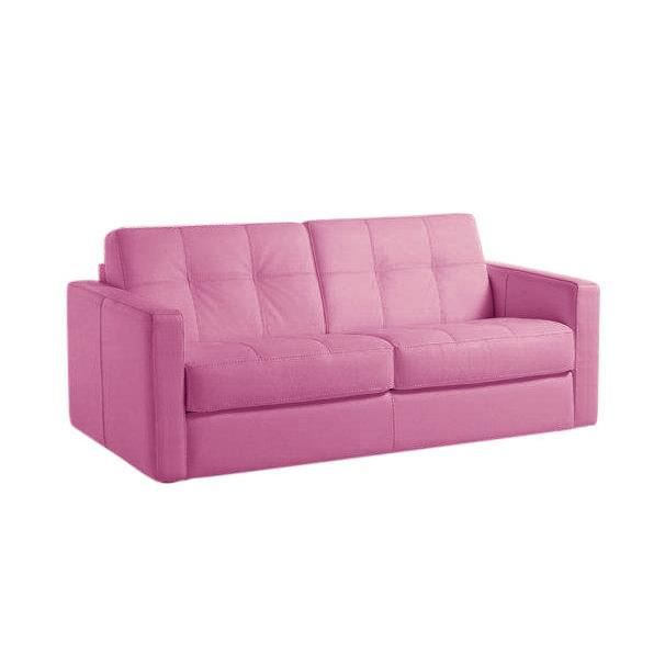 Canap convertible tetris tissu rose lit 140x190 achat vente canap sof - Canape convertible 140x190 ...