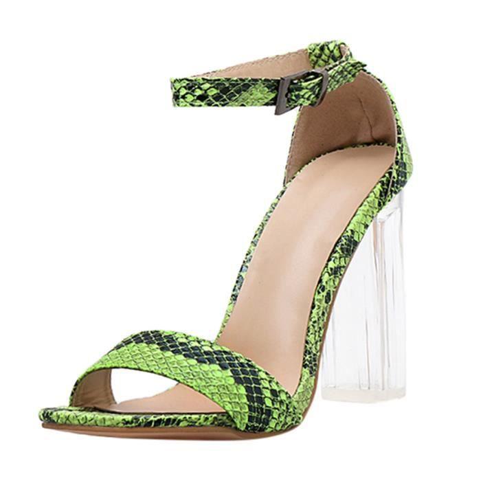 Mode pour femmes Sandales bout pointu talon carré Chaussures Chaussures à talons hauts_bub161